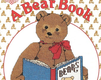 A Bear Book by Gordon Fraser, Bears Graph Charts, Bears in Counted Cross Stitch, Teddy Bears Embroidery, Graph Charts, Vintage Book