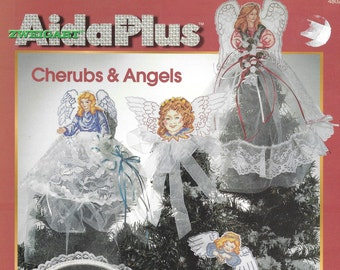 Cherubs & Angels by Ursula Michael, Projects for Aida Plus, Christmas Ornaments for Aida Plus, Vintage Cherubs and Angels Cross Stitch