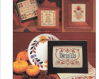 Pennsylvania Dutch by Kramer and Nanneman, Counted Cross Stitch, Graph Chart, Vintage Leaflet, House Blessing, Dutch Border, Vintage