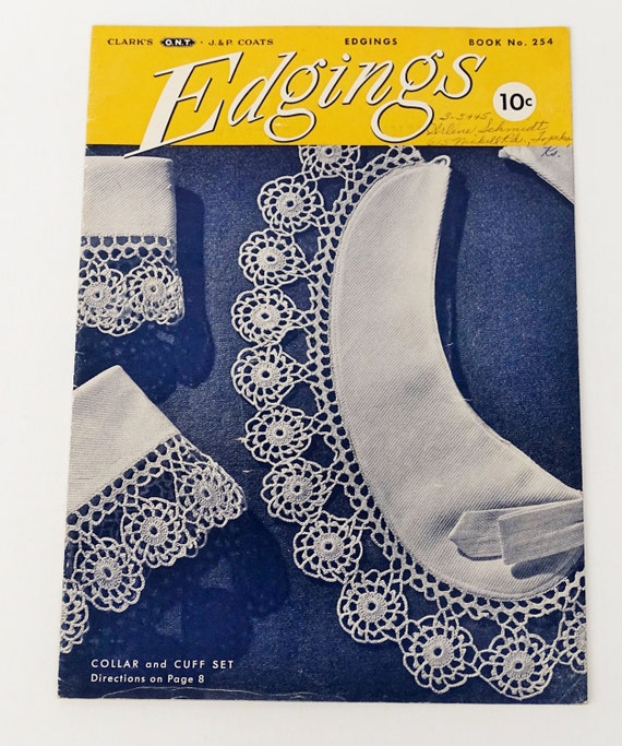 Bordüren häkeln 1940er Anleitungen und Schnittmuster buchen | Etsy