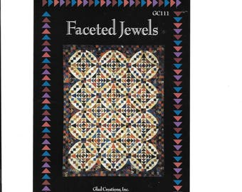 "Faceted Jewel Glad Creations Susan Dyer & Nancy Raschka Reeves,  Size 80"" 104"", Quilting, Quilt Design, Patchwork, Sewing, Quilt Block"