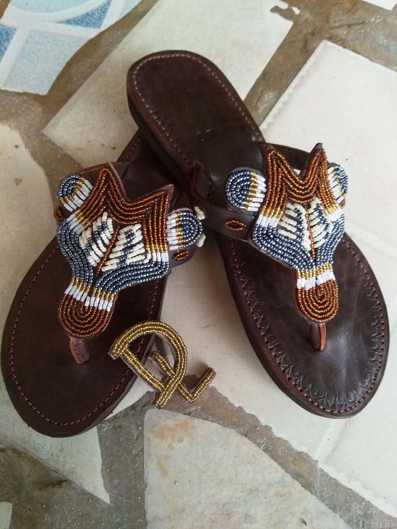1a2a49c3d8d0 Kenyan Gazelle Handmade African Kenyan Leather Beaded