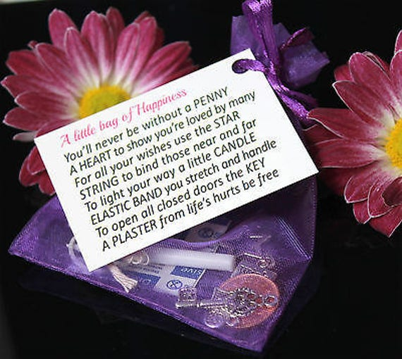 Little bag of happiness Parcel Gift wedding favors birthday  christmas