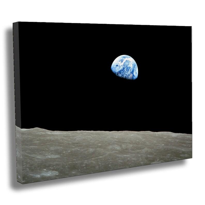 NASA  Apollo 8 Dec 24 Earthrise Box Canvas Print  Giclee image 0