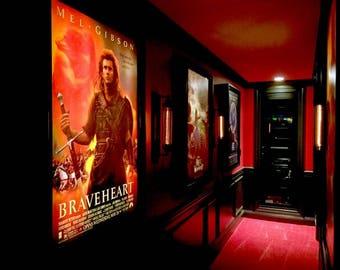 Movie Poster Led Light box Display Frame Cinema Light Up Home Theater Sign
