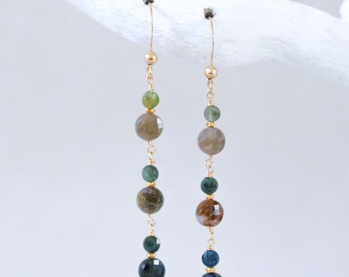 Featured listing image: Tourmaline Mini Coin Earrings