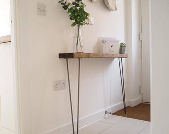 Narrow console table with hairpin legs b6f4c9180