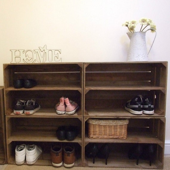 image 0 - 4 X Shabby Chic Wooden Shoe Racks Rustic Vintage Shoe / Etsy