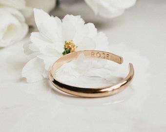 bdd8a4973e9 Engraved 14k Gold Baby Bracelet for Girls