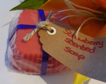 Strawberry scented soap