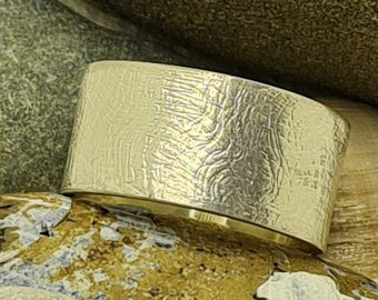 Textured Gold or Silver Gauze Wedding Rings Handmade