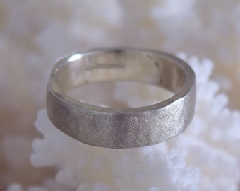 Matching Textured Gold or Silver 10mm Wedding Rings Handmade
