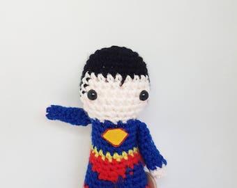 Superman amigurumi doll