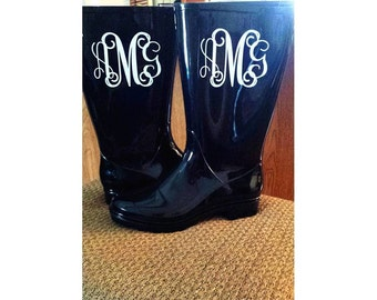 Monogram Rain Boots (perfect Christmas gift)