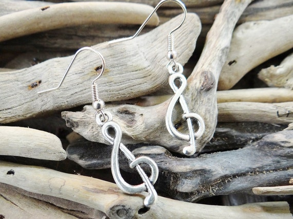 Treble Clef Earrings Music Note Musical Musician Crotchet Minim Quaver Semiquaver Sharp Flat Earring Ear Ring Rings