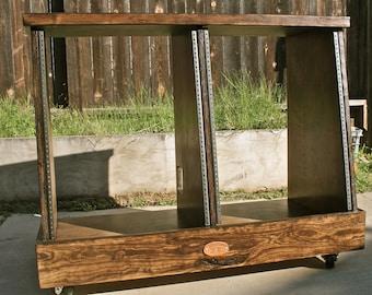 Double-Bay 14U Slanted Studio Rack (28U total)
