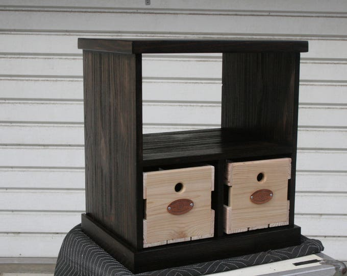 Record Player Console in Kona Finish