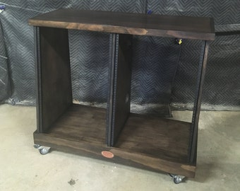 Double-Bay 16U Slanted Studio Rack (32U total)