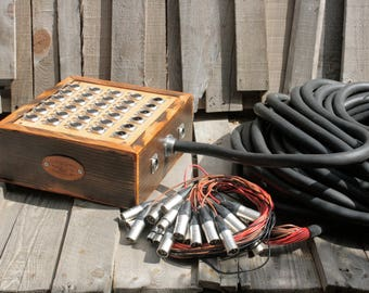 32-Channel Audio Snake with Wooden Junction Box with Mogami Cabling