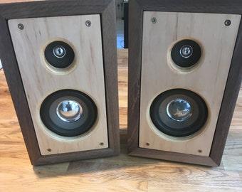 Custom Walnut 50W Passive Speakers with Tweeter