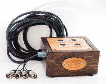 4-Channel Audio XLR Snake with Mogami wire and Wooden Input Box