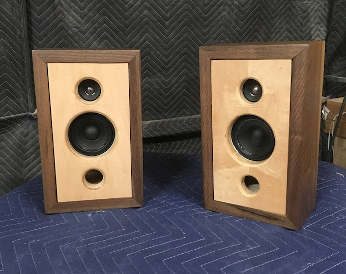 Custom Walnut 25W Passive Speakers with Tweeter