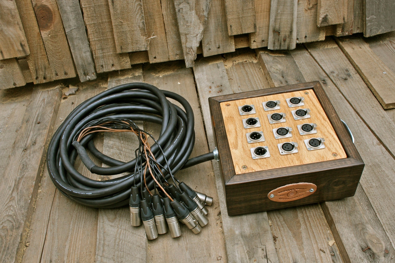 12 Channel Audio Snake With Wooden Junction Box Mogami Cabling Electrical Wiring Channels