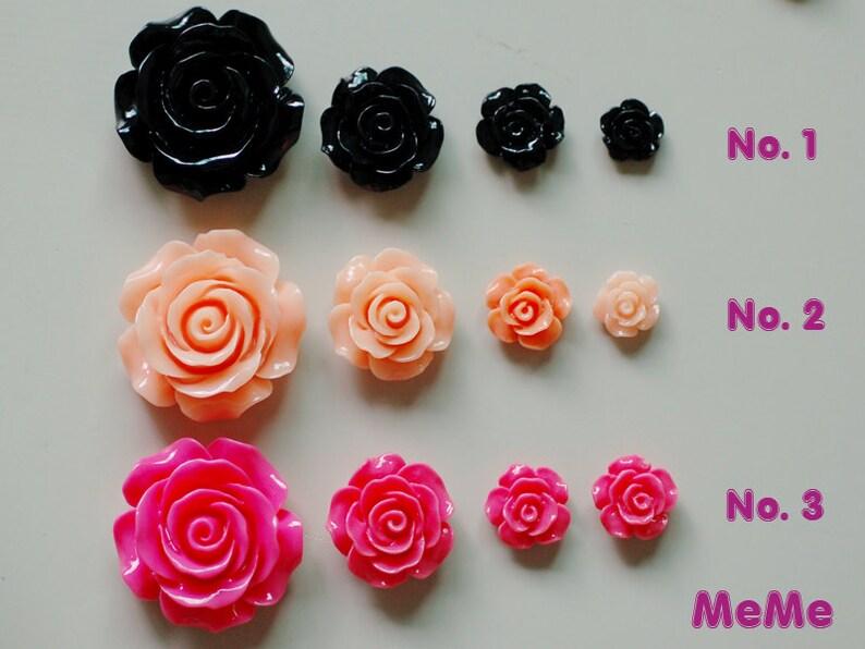 50 X Light Pink//Peach Resin Flatback Flower Embellishments 13mm