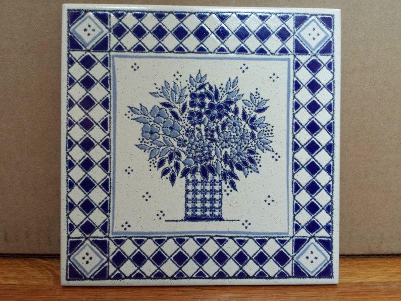 Vintage italian kitchen tiles by ceramiche piemme floral in etsy