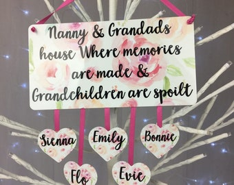 grandparent gift personalised plaque christmas gift