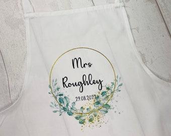 Bride Apron, Wedding Apron, Personalised Apron, Flower Girl, Bridesmaid Apron, Wedding Cover Up, Cooking Apron, Bride Bib, Bridal Bib
