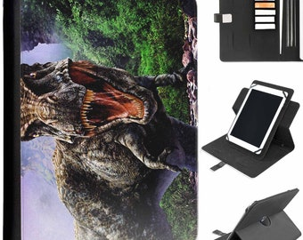 Universal Tablet Dinosaur Trex Lenovo Huawei Nokia Lumia Xiaomi HTC samsung sony alcatel  Protective Pu Leather Flip Wallet 360 Swivel Case for sale  Delivered anywhere in Canada
