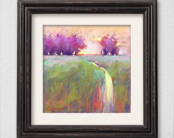 "Original Pastel Painting ""Day End"""