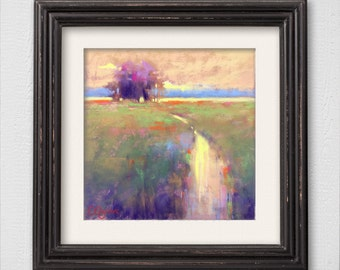 "Original Pastel Painting ""Dusk"""