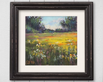 "Original Pastel Painting ""Summer Day"""