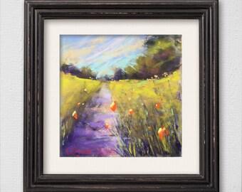 "Original Pastel Painting ""Let's Walk"""