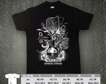 Human Time black t-shirt from the Seventea Studios I Art Collection.
