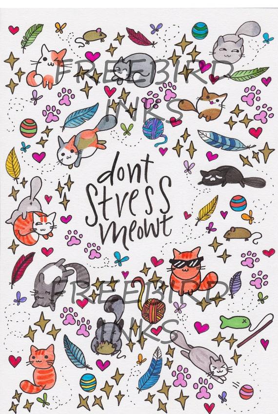 Nicht Stress Meowt Handy Wallpaper Handy Hintergrund Süßen Katzen Katze Wortspiele Lustigen Katzen Iphone Hintergrund Android Hintergrund
