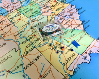 Push Pin Map Usa Etsy - Us-pin-map