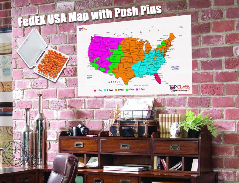 Magnificent Fedex Large Shipping Map Large Usa Map Poster With Push Pins Usa States Us Map With Pins Travel Map Map Usa Travel Home Interior And Landscaping Ponolsignezvosmurscom