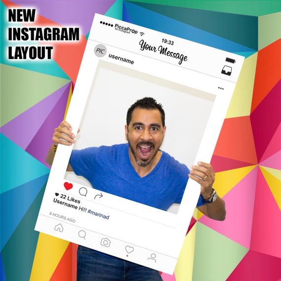 Instagram Frame Photo Booth Prop Fully Printed Customized For