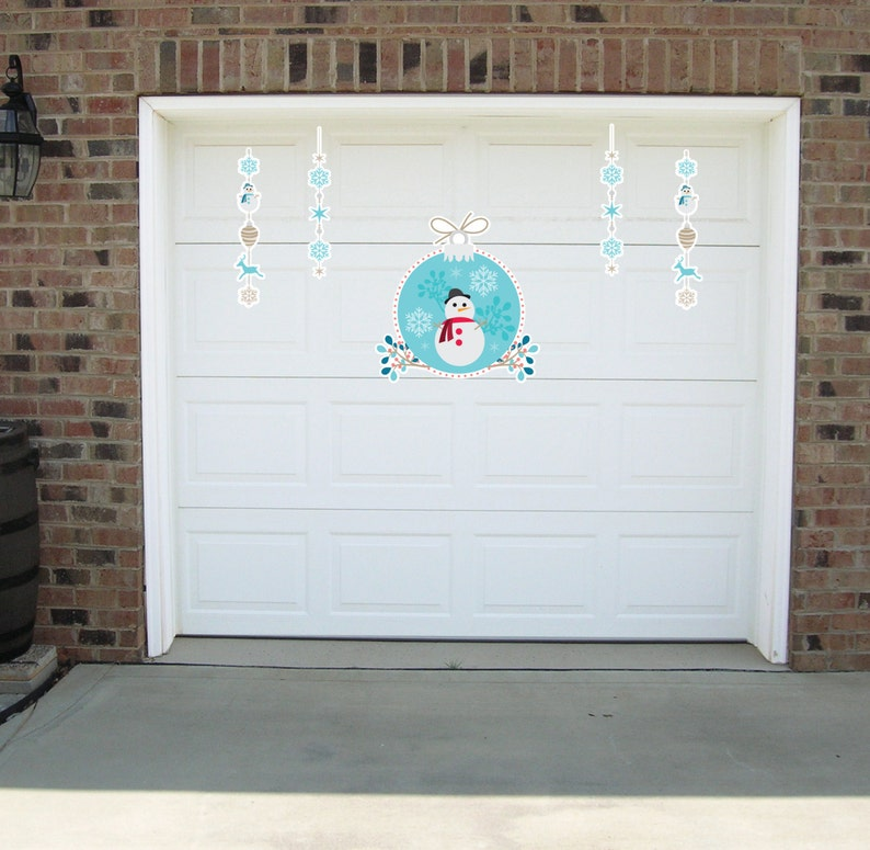 Attirant Decorate Your Garage With Christmas Magnets   Christmas Garage Door Magnets    Snowman Wall Graphics