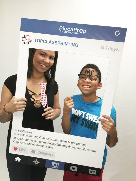 Instagram Frame Printed And Shipped To You Fully Customized Cutout
