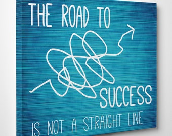 Canvas wall quotes, Road to Success! | Motivational Quotes on Canvas - Wall art - Wall Decor - Inspirational Quotes - Canvas for offices