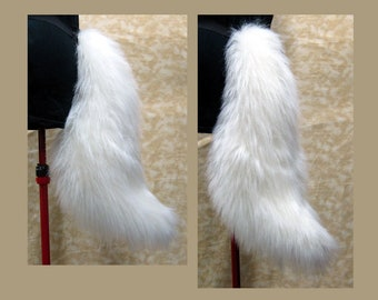 Soft and fluffy Canine Tail! (faux fur)