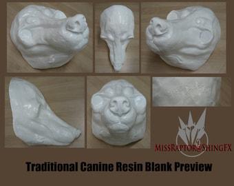Realistic Canine Resin Base for masks & fursuits!