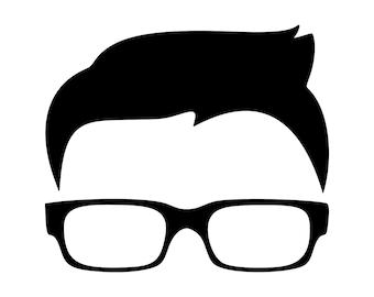 9c6c747abc Hair Svg Glasses Svg Boys Face Svg Silhouette Cutting File Clipart Svg Dxf  Png Art Cnc Laser Engraving Cut File Tshirt Vector Clip Art