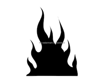 image about Flame Stencil Printable named Printable flames Etsy