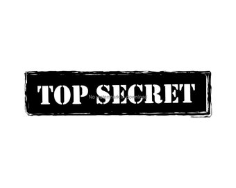 Top Secret Svg Spy Investigator Clipart Office Cut File Sign Stamp Clip Art Dxf