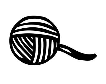 yarn ball svg etsy